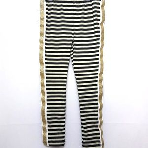 NWT JUICY COUTURE Striped Gold Glitter Pants 5 XS